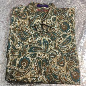 NWOT Alan Flusser paisley long sleeve shirt
